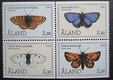 Aland 1994 Butterflies Set(Booklet stamps). MNH.