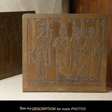 Antique Ancient Greek Scholars Education Copper Bookends Etched Products Corp Ny