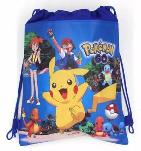 Pokemon Pikachu Kids School Drawstring bag Birthday Party Favour