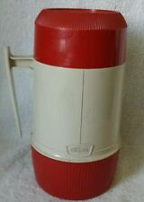 Vintage Thermos Vacumm Jar 6202 Red & Beige 1 Pint Wide Mouth