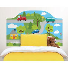 AROUND TOWN Twin HEADBOARD 1 MURAL wall sticker cars road decal bedroom decor