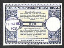 IRC INTERNATIONAL REPLY COUPON DENMARK 90 ORE TYPE B7 1962