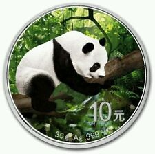 2016 ~ 30~GRAM ~ SILVER ~ 10Y ~ CHINA PANDA IN NATURE  ~ COLORIZED COIN ~ $64.88