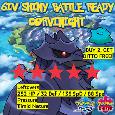 POKÉMON SWORD AND SHIELD CORVIKNIGHT   6IV, BATTLE READY   WITH DITTO OFFER