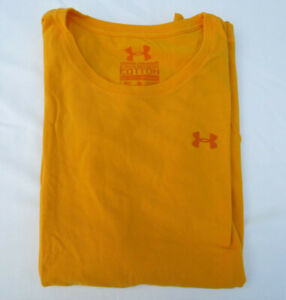 Under Armour Yellow Short Sleeve Crew Neck T Shirt Adult Med