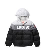 Levi's Little Boys Black Gray Rocket Water Resistant Puffer Jacket NEW Tags M L