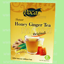 GINGER TEA 2 Boxes x 20 Packs POCAS GINGER TEA WITH HONEY CAFFEINE FREE