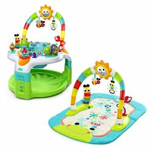 Bright Starts 2 in 1 Laugh & Lights Activity Gym and Saucer Green