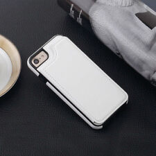 Leather Wallet Credit Card Slot Stand Back Cover Case for iPhone X 8 7 Plus 5 6S