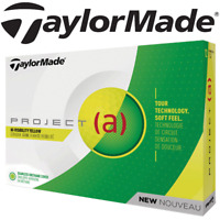 TAYLORMADE 2018 PROJECT (a) HI VISABILIT YELLOW GOLF BALLS / DOZEN /12 BALL PACK