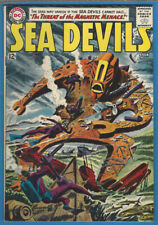 Sea Devils #12 VF- 1963 DC Silver Age Grey Tone Cover