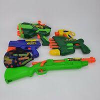 Lot of (5) Buzz Bee Toys Air Warriors Jaguar Rads 12 Tetra-Strike Hunter Pistol