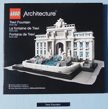 Lego TREVI FOUNTAIN 21020 - Instructions & Name Tile ONLY