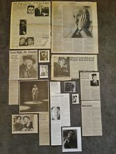 Nice JIMMY DURANTE Clippings Collection