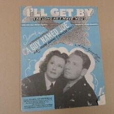 "songsheet I'LL GET BY ""a guy named joe"" Spencer Tracy 1928"