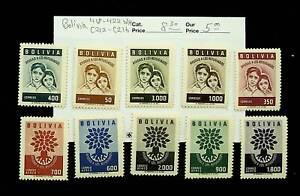 BOLIVIA WORLD REFUGEE YEAR SET OF 10 MNH STAMPS