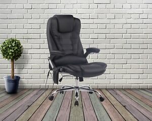 Executive 6 Point Massage Chair Computer Office Chair Adjustable Swivel Recliner