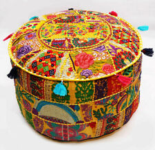 Ottoman Cover Pouf Home Decorative Patchwork Living Room Foot Stool Cover