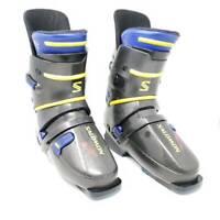 Salomon HTC 93 EXP Unisex Ski Boots Gray Blue 325 25.5 Men US 7.5  Women US 8.5