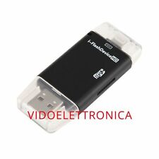 USB i-Flash Drive HD Micro SD Memory Card Reader. Device 8 pin For iPhone 5/5s/6