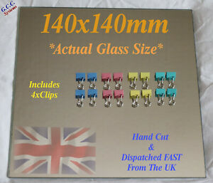 140 x 140mm Mirror Glass Plate For Heated 3D Printer Bed W Clips Creality Vector