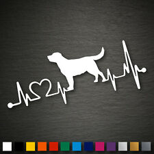 14195 Labrador Retriever battito cardiaco Adesivo Cane 179x71mm STICKER AUTO TUNING