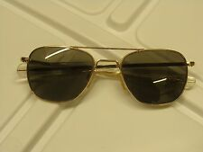 AF-52[]20 RANDOLPH ENGINEERING GOLD FINISH ORIGINAL PILOT AVIATOR SUNGLASSES 5.5