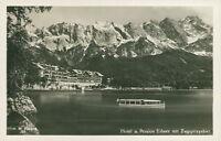 Ansichtskarte Hotel Pension Eibsee mit Zugspitzgebiet  (Nr.9237)