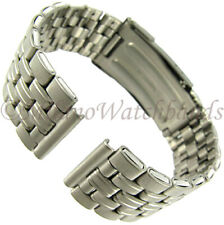 16mm Hirsch Titanium Security Fold Over Clasp Straight End Mens Watch Band XLONG