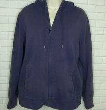 L.L Bean Purple Sherpa Lined Zip Front Sweatshirt Size Medium Hoodie