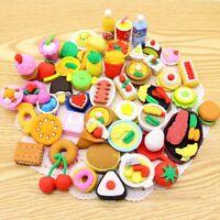 16 x lustige Lebensmittel Radiergummi Essen Kuchen Kekse Gemüse Obst Spielküche