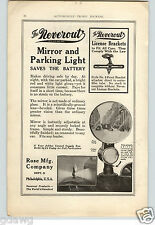 1921 PAPER AD Neverout Car Auto Automobile Mirror Parking Light Lamp Rose RARE!