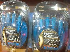 CAVI RCA RCA PROFESSIONALI VD006S 24K GOLD PLATED 3MT OFFERTA SAT SHOP