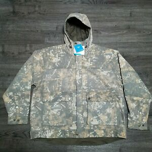 COLUMBIA PHG Gallatin Lite Wool Hoodie Jacket Mens 2XL Timberwolf Digital Camo