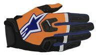 Alpinestars Racefend Gloves Orange/Blue/White  Motocross Mx Quad Atv Off Road