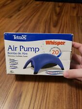 Tetra  Whisper Up to 20 Gallons Air Pump Blue Brand New In Box. Free Shipping.