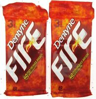 Dentyne FIRE Gum ~ 3 - 16 Piece packs Spicy Cinnamon Gum ~ Lot of 2 Free Ship