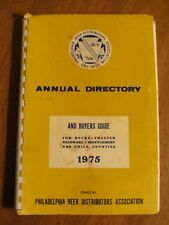 1975 Philadelphia Beer Distributors Assoc & Buyers Guide - Nice Find - P1008