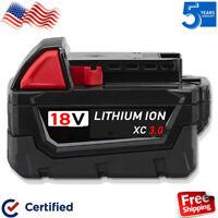 18V For Milwaukee 48-11-1850 Battery M18 18 Volt XC MAX Lithium 48-11-1852 Red