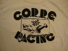 Vintage C.O.R.R.E. Racing Dirt Mud Truck Fat Tire Finish Line Flag T Shirt M