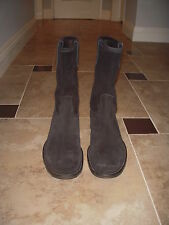 VERO CUOIO ITALY SUEDE BLACK TALL BOOTS MEN SZ 43