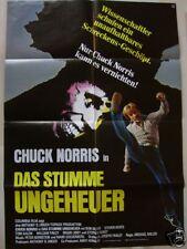 DAS STUMME UNGEHEUER - Chuck Norris - HORROR - Filmplakat A1