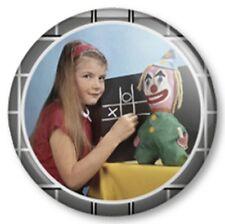 "TV TEST CARD GIRL 25mm 1"" Pin Button Badge Retro Vintage F Geek Nerd Fun Novelty"