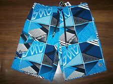 MENS MAUI AND SONS CARGO SWIM TRUNKS BOARD SHORTS size 38, NWT BLUE