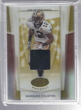 2007 Leaf Certified Materials Marques Colston Saints Gold Jersey Card #23/25