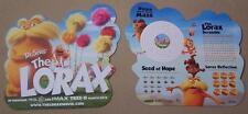 DR. SEUSS' THE LORAX D/S Movie Poster Card Original Promo Item Puzzles Mazes 9x9