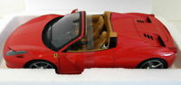 Hot Wheels 1/18 scale diecast - BCJ89 Ferrari 458 Italia Spider Rosso red