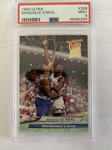 1992 Ultra Shaquille Oneal RC Rookie PSA 9 Mint #328