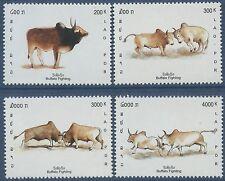 LAOS N°1478/1481** Buffles,  2002,  buffalo Set MNH