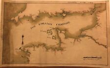 Channel islands,Southern England and Normandy. Original manuscript map. XVIII ce